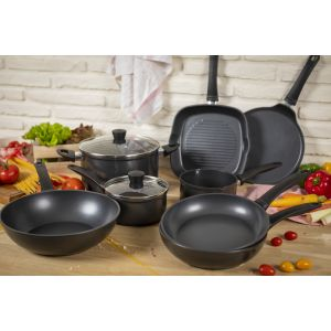 Easy Induction 4pc Cookware & Frying Pan Set
