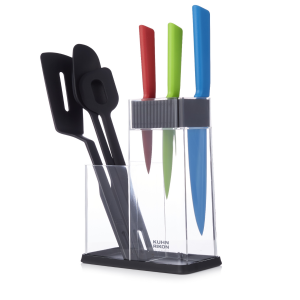 Colori®+ 7pc Knife Block Set & Utensil Caddy