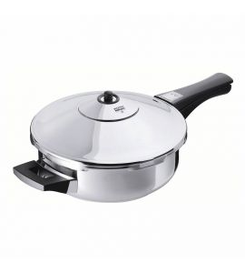 Duromatic Inox Frying Pan Pressure Cooker Titanium Non-Stick 2.5L 24cm
