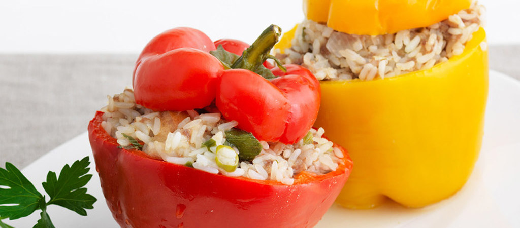 Stuffed Peppers with Spicy Rice