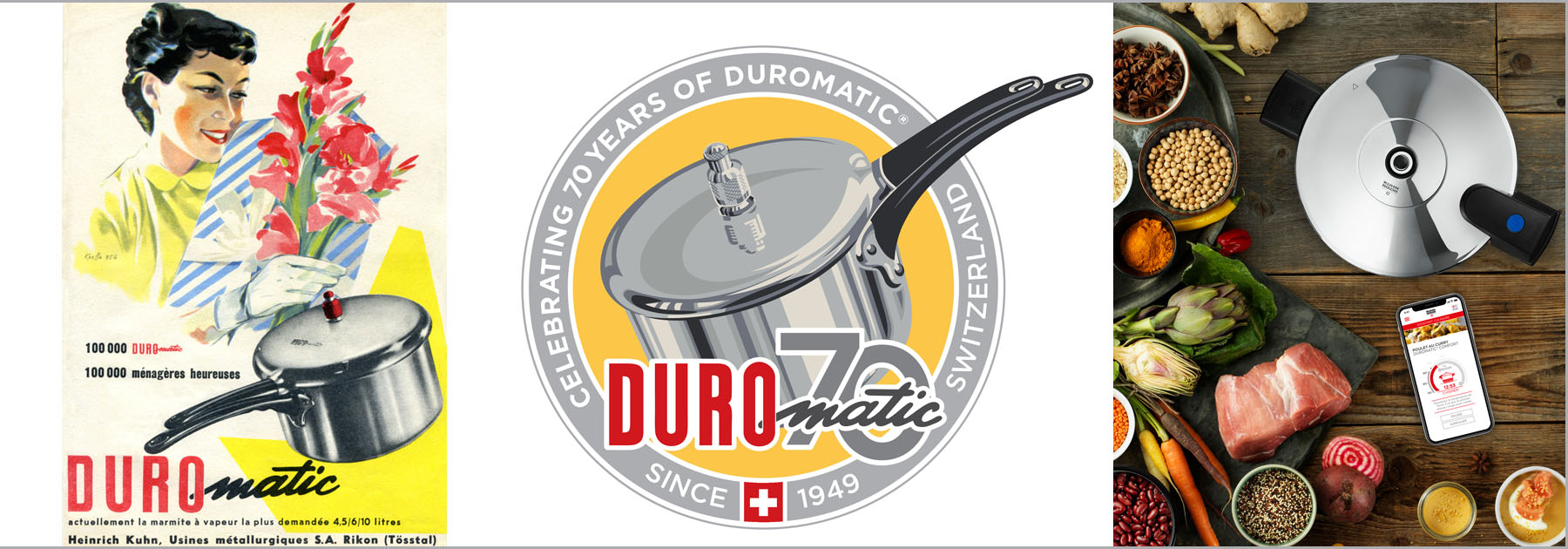 Duromatic, pressure, cooker, 70th, anniversary