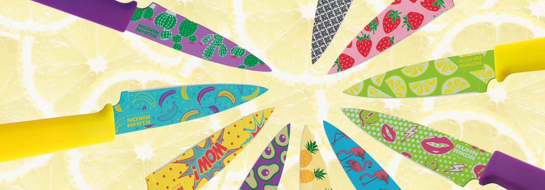 paring, knives, pattern, colori, sharp,