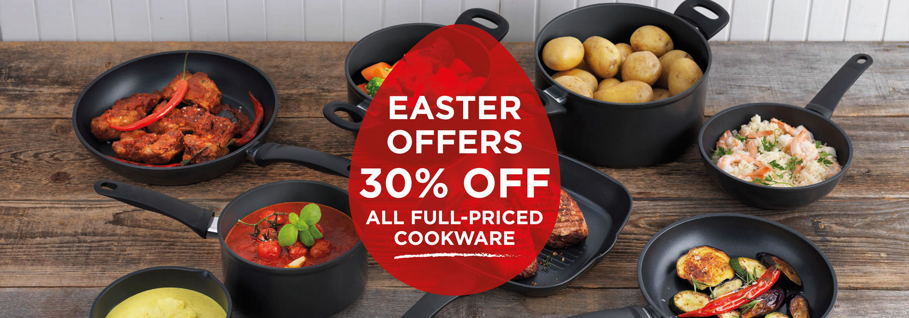 save, discounts, offers, promotions, easter, cookware
