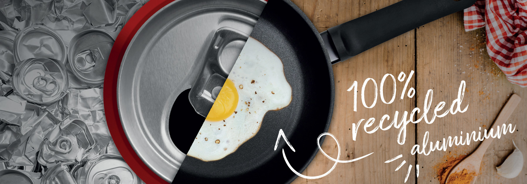 Recycled Frying Pan, 100% Recycled