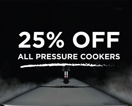 25% off Duromatic Pressure Cookers